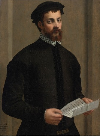 A Gentleman at 30 years old, 1554 (Francesco Salviati)(1510-1563)  Sothebys Old Masters Sale, January 30, 2014, Lot 219