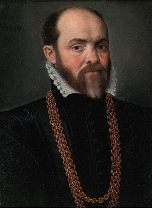 Man with Necklace, 1559  (Flemish School)  Sotheby