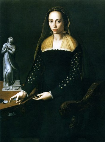 A Woman, said to be Ortensia de Bardi di Montauto,  ca. 1559 (attributed to Alessandro Allori) (1535-1603)  Galleria degli Uffizi, Firenze