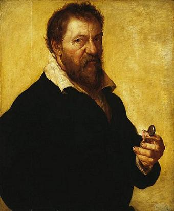 Self-Portrait ca 1550 by Lambert Lombard ca1505-1566  Hermitage Museum oil on panel