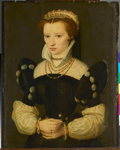 A Woman possibly Anne de Pisseleu Duchess of Estampes ca 1550  by French School  SKD Gal Nr &13