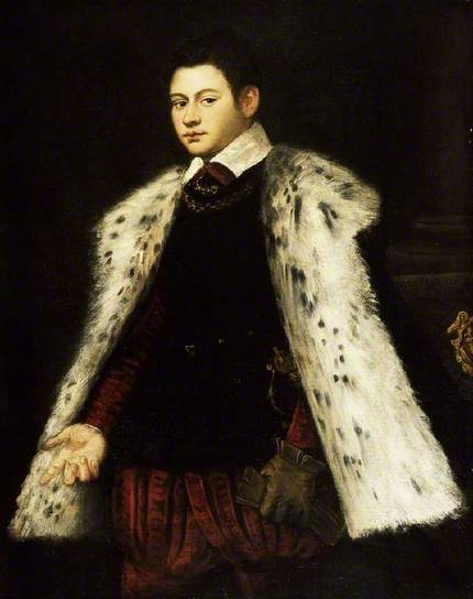 A Young Man in Fur Coat 1558  by studio of Jacopo Tintoretto 1518-1594  Fitzwilliam Museum