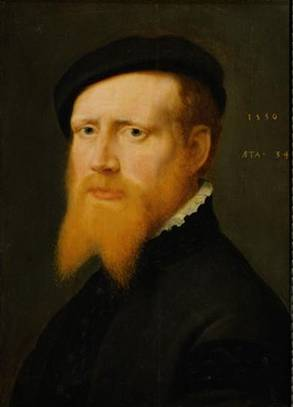 A Man at 34 years old, ca. 1550  (William Key) (1520-1568)Kunsthistorisches Museum, Wien GG_976