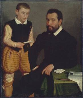 Count Alborghetti & Son, ca. 1550   (Giovanni Battista Moroni)  (1522-1578)     Museum of Fine Arts, Boston, MA 95.1371