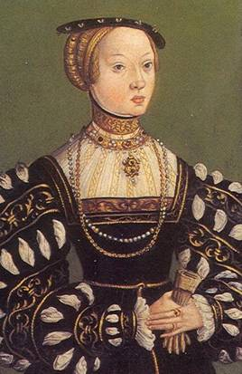 Elizabeth of Austria at ca. 24 years of age dated 1550   Unknown Polish Court Painter Location TBD