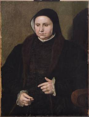 An Old Woman, ca. 1550   (Master of the 1548 Dresden Portraits) Kunsthistorisches Museum, Wien    GG_826