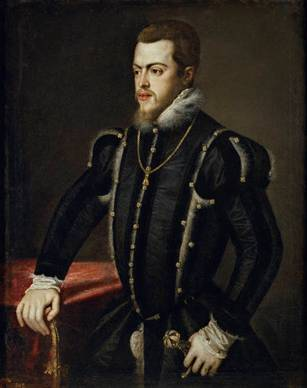Philip II ca. 1551-1553  workshop of Titian 1488-1576   Museo del Prado Madrid   P00452