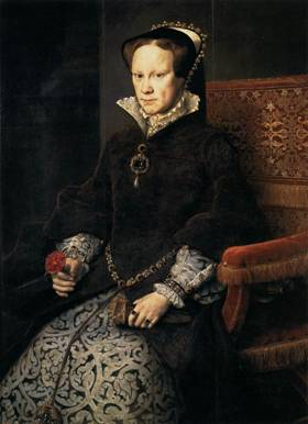 Mary I of England, ca. 1554  (Anthonis Mor) (1516-1577)     Museo del Prado, Madrid