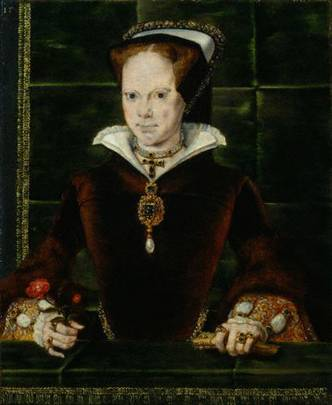Mary I, ca. 1554   (Hans Eworth) (1520-1574)    National Portrait Gallery, London    4861