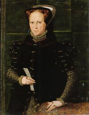 Mary I ca. 1554   Hans Eworth 1520-1574  Location TBD