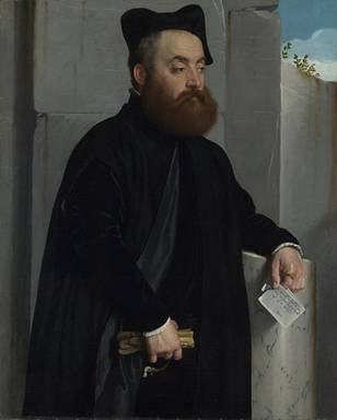 Canon Ludovico di terzi,  ca. 1554  (Giovanni Battista Moroni) (1524-1578) Location TBD   The National Gallery, London?