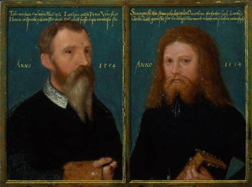 Self Portrait w/ Henry Strangwish, ca. 1554   (Gerlach Flicke) (fl. 1545-1558) National Portrait Gallery, London    6353