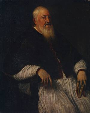 Filippo Archinto, papal nuncio to Venice, ca. 1555  (Titian)  (1488-1576)  The Metropolitan Museum of Art, New York, NY               14.40.650