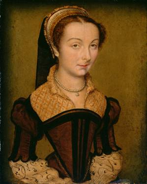 Louise de Halluin, dame de Cipierre,  ca. 1555 (Corneille de Lyon) (1500-1575)     The Art Institute of Chicago, IL  1933.1061