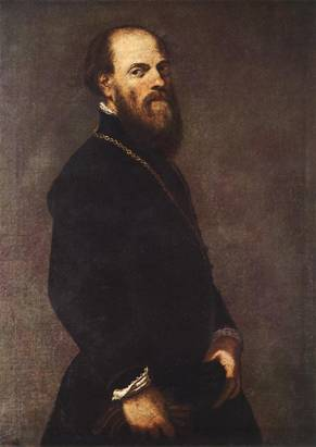 A Man with a Golden Lace, ca. 1550's (Tintoretto)  (1518-1594)    Museo del Prado, Madrid