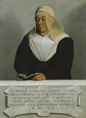 Abbess Lucrezia Agliardi Vertova, ca. 1556   (Giovanni Battista Moroni) (1524-1578)    The Metropolitan Museum of Art, New York, NY    1915 (30.95.255)