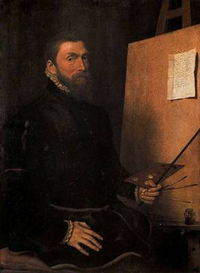 Self-Portrait, ca. 1558  (Anthonis Mor) (1520-1578) Galleria degli Uffizi, Firenze
