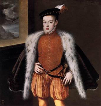 Prince Don Carlos of Austria, 1558 (Alonso Sanchez Coello) (1531-1588)    Museo del Prado, Madrid