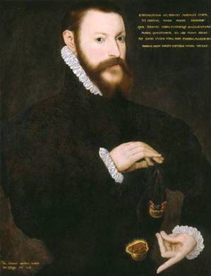 Sir Thomas Chaloner, 1559  (Unknown Artist)    National Portrait Gallery, London  2445