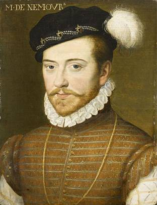 Jacques de Savoy, duc de Nemours, ca. 1556 (Unknown Artist)   Musée Condé, Chantilly