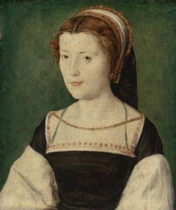 Marie of Guise or a relative, ca. 1540-1555 (attrib to Corneille de Lyon) (1500-1575) Sotheby