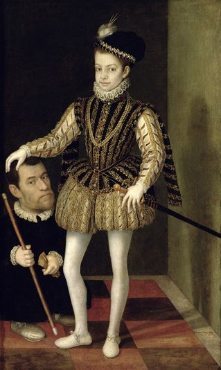 Charles Emmanuel of Savoy and a man,  ca.  1572 (Giacomo Vighi) (1510-1573)   Location TBD