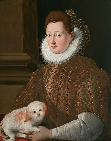 A Woman with a Lapdog, ca. 1575 (Girolamo Macchietti) (1535-1592) Dorotheum Fine Art Auction House, Vienna