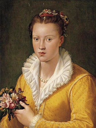 A Girl with Flowers, ca. 1565-1575 (attributed to Santi di Tito) (1536-1603) Sotheby's Fine Art Auction, January 27, 2006, Sale 08162, Lot 264A