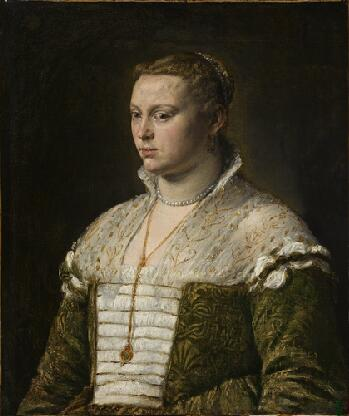 A Venetian Woman, ca. 1570 (attributed to Jacopo Bassano) (1510-1592) Norton Simon Museum, Pasadena, CA, F.1965.1.002.P