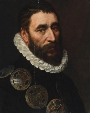 A Man with Guild Buckles, ca. 1575 (Adriaen Thomasz. Key) (1544-1589) Sotheby's Sale N09003