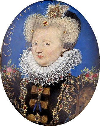Marguerite of Valois, Queen of Navarre, 1577 (Nicolas Hilliard) (1547-1619) Denver Art Museum, CO, Berger Collection