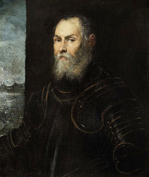 A Venetian Admiral, ca. 1575 (Jacopo Tintoretto) (1519-1594)   National Museum in Warsaw,  M.Ob. 635