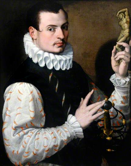 A Young Man holding a statuette, ca. 1575 (Bartolomeo Passarotti) (1529-1592) Hatton Gallery, Newcastle upon Tyne
