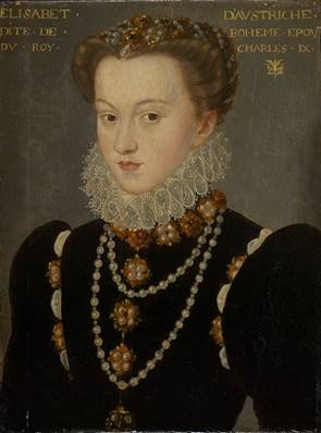 Elizabeth of Austria, wife of Charles IX, after 1571 (follower of François Clouet) (1516-1572) The Art Institute of Chicago, IL 1951.317