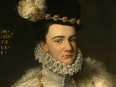 Henry, Duke of Anjou at 19?, detail, ca. 1572 (Unknown Artist) Location TBD