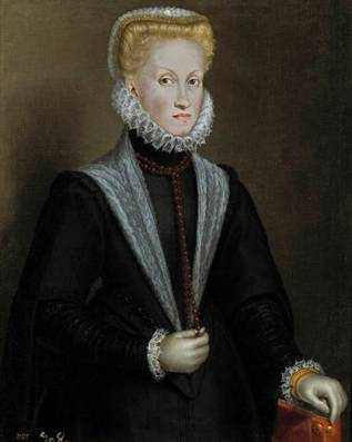 Anna of Austria (4th wife of Philip II), 1573 (Sofonisba Anguisola ) (1532-1625) Museo Nacional del Prado, Madrid P01284