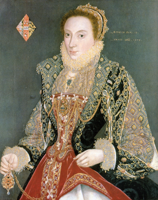 Mary Denton, 1573 (George Gower) (1540-1596) York Art Gallery, UK
