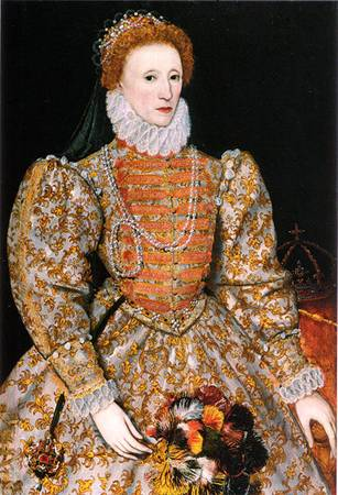 Queen Elizabeth at 42 years old, ca. 1575 (The Darnley Portrait) (Unknown Artist) National Portrait Gallery, London