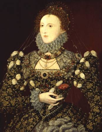 Queen Elizabeth, ca. 1575, Phoenix Portrait (Unknown Artist) Location TBD