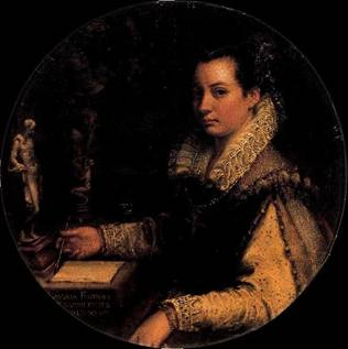 Self-Portrait at about 27?, ca. 1579 (Lavinia Fontana) (1552-1614) Galleria degli Uffizi, Firenze