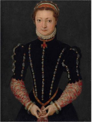 A Lady, ca.  1570  (Pieter Jansz. Pourbus) (1523-1584) Weiss Gallery, London