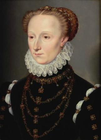 Madeleine le Clerc du Tremblay, ca. 1570-1572 (François Clouet) (c1510-1752) Weiss Gallery, London