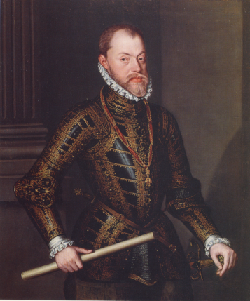 Philip II, ca. 1570 (Alonso Sánchez Coello) (1531-1588) Pollok House, Glasgow PC 159