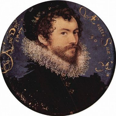 Self-Portrait, 1577 (Nicholas Hilliard) (1547-1619) Victoria and Albert Museum, London