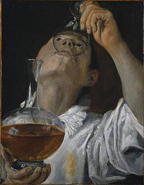 A Boy Drinking, ca. 1582 (Annibale Carracci) (1560-1609)  Cleveland Museum of Art, OH, 1994.4