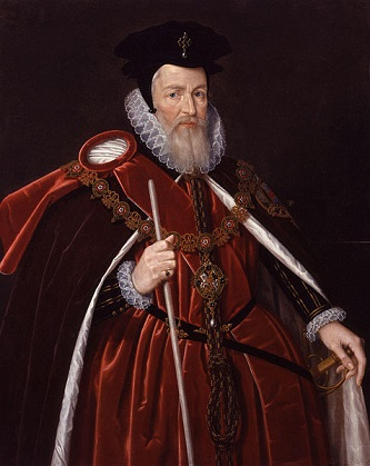 William Cecil. 1st Baron Burghley, ca. 1588 (Unknown Artist)   National Portrait Gallery, London,   NPG 362