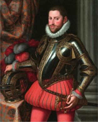 Archduke Ernst of Austria, ca. 1580  (Martino Rota) (1520-1583) The Weiss Gallery, London
