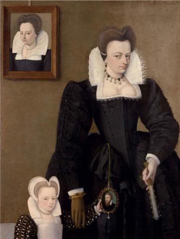 A Lady with Child, ca. 1585 (Francois Quesnel) (1543-1619) Weiss Gallery, London