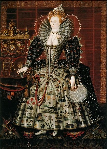 Elizabeth I, Queen of England, ca. 1595 (Unknown Artist)  Hardwick House, Witchurch-on-Thames, Oxfordshire