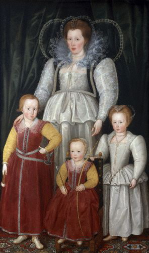 Anne, Lady Pope with her children, 1596  (Marcus Gheeraerts the Younger) (1561-1636) Private Collection